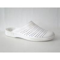 Сабо кожаные белые Флоаре 5207, (Молдова)