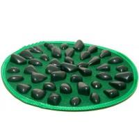Круглий масажний килимок Олві з ефектом морської гальки