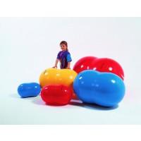 Киндербол бобовидной формы «Боб 400» - ? 40 см, длина 65 см (красный)