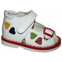 Ортопедические сандали белые Таши Орто, (Турция)