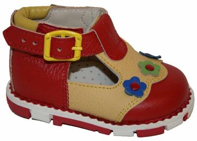 Ортопедические туфли с цветочками Таши Орто, (Турция)