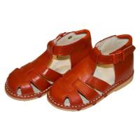 Ортопедические сандали закрытые, красные Таши Орто, (Турция)