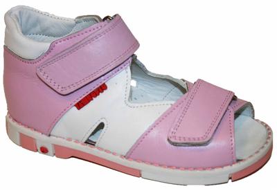 Ортопедические босоножки розово-белые Таши Орто, (Турция)