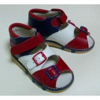 Ортопедические сандали красно-белый-синий Таши Орто, (Турция)