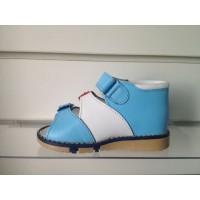 Ортопедические босоножки бело-голубые Таши Орто, (Турция)