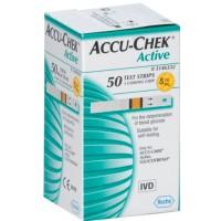 Тест-полоски для глюкометров Accu-Chek Active №50