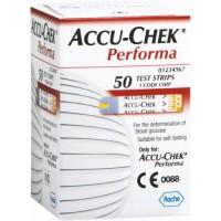 Тест-полоски для глюкометров Accu-Chek Performa №50
