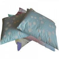 Подушка из гречневой шелухи, ткань Голд Лотос (40х50 см)