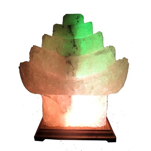 Светильник соляной Китайский домик 'Saltlamp' 5-6 кг, с цветной лампочкой