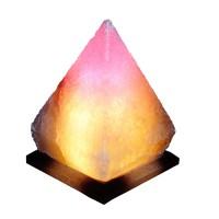 Светильник соляной Пирамида 'Артёмсоль' 4-5 кг с цветной лампочкой