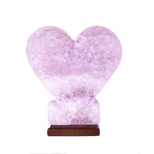 Светильник соляной Сердце цветное 'Соляна' 4-5 кг