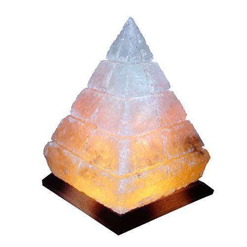 Светильник соляной Пирамида Египетская 'Saltlamp' 5 кг с цветной лампочкой