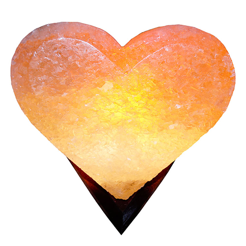 Светильник соляной Сердце 'Saltlamp' 4-5 кг