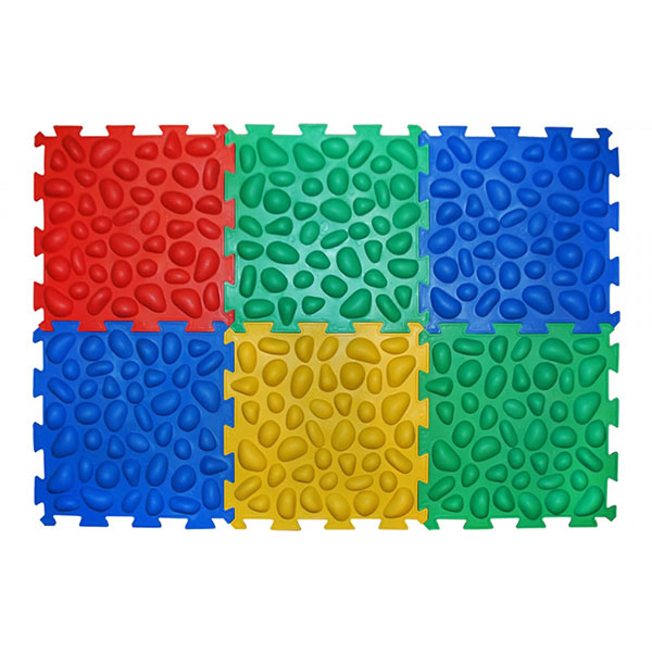 Массажный коврик Пазлы (6 элементов) Ортек