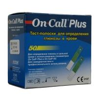 Тест-полоски для глюкометров On-Call Plus №50