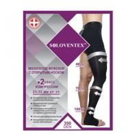 Моночулок компрессионный мужской Soloventex арт.550-4 с открытым носком, 2 класс компрессии, 350 DEN