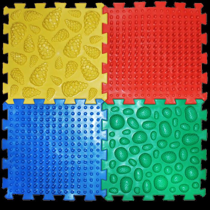 Массажный коврик Микс Пазлы 4 элемента Ортек