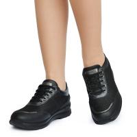 Туфли женские S3501 Nappa/Goccia Nero Sabatini