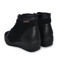 Женские ботинки H9310 Camoscio/Nappa Nero Hergos