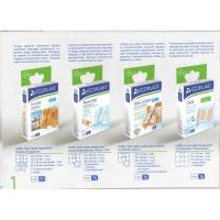 Набор пластырей медицинских Семейная аптечка ЄCOPLAST 24 шт+ нетканная котушка
