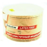 Бинт медицинский эластичный 2 Latex Free 8смх5мLauma