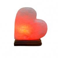 Соляний світильник Серце на боці з деревом 'Планета солі' 3 кг