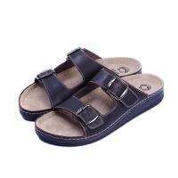 Мужские кожаные тапочки BAKAR BRAWN 3401, Mubb