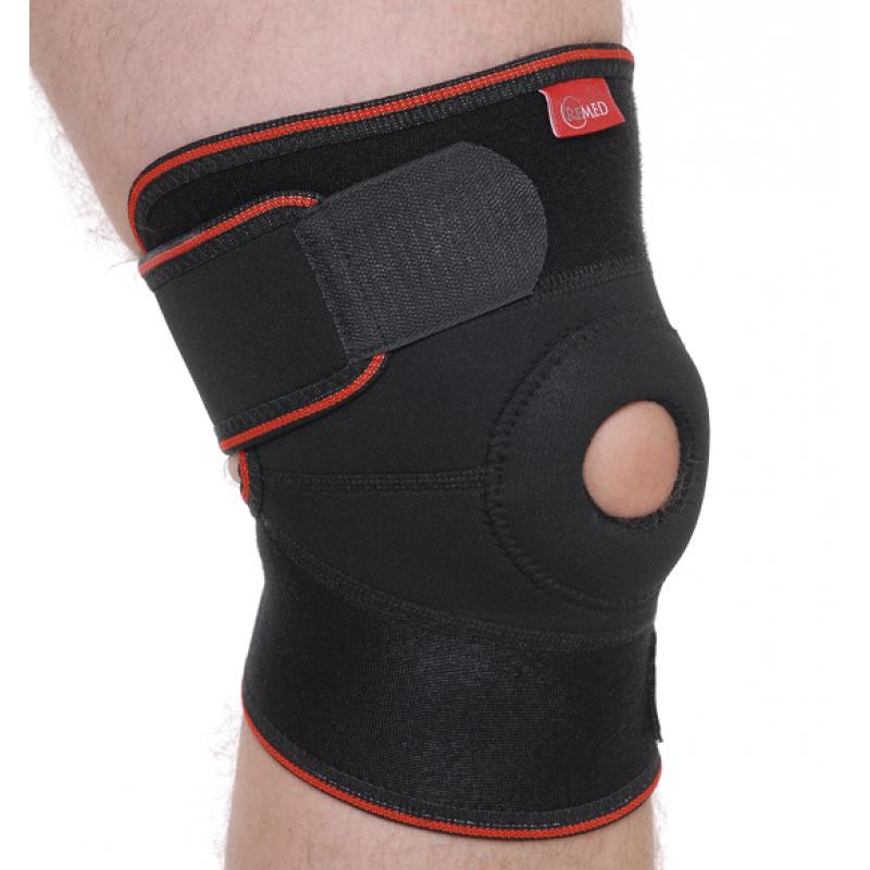 Бандаж на коленный сустав разъемный R6102 UNI Черный Remed