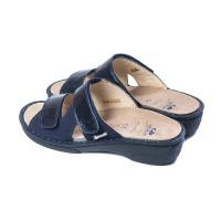 Женские шлепанцы E8 80-22307 Gloss/Camoscio Blu HERGOS (Италия)
