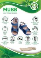 Женские ортопедические босоножки 267-1-19 GREY Mubb