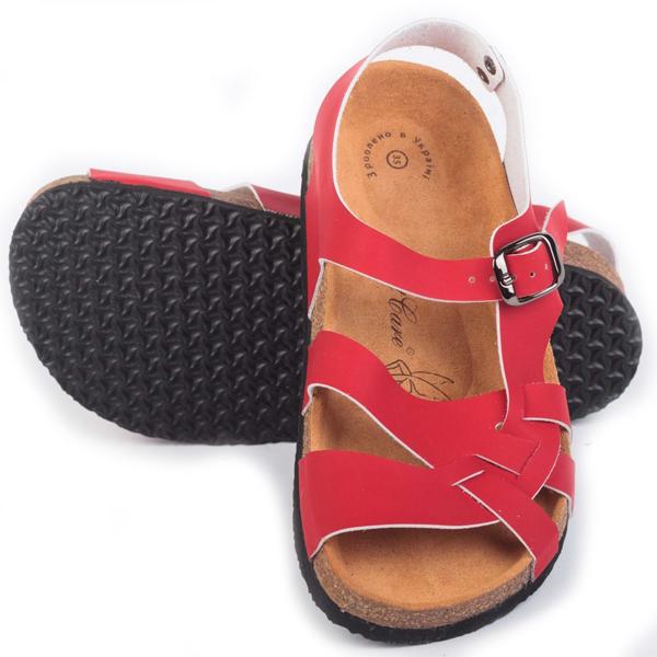 Анатомические сандалии FA-107 красные Foot Care