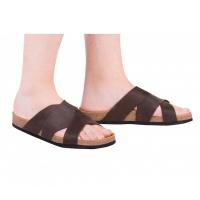 Анатомические шлепанцы FA-307 коричневые Foot Care