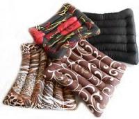 Сидушка-подушка из гречневой шелухи Лотос, 40x40 см (сатин)