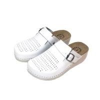 Женские кожаные тапочки Mubb White 180101