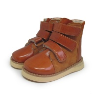 Ботинки зимние рыжие Ortofoot