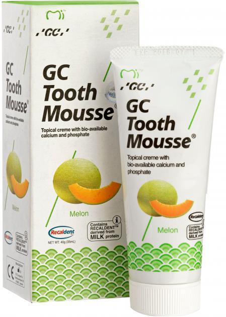 Тус Мусс (TOOTH MOUSSE) гель для реминерализации и укрепления зубов GC, дыня, 1 тюбик 35 мл