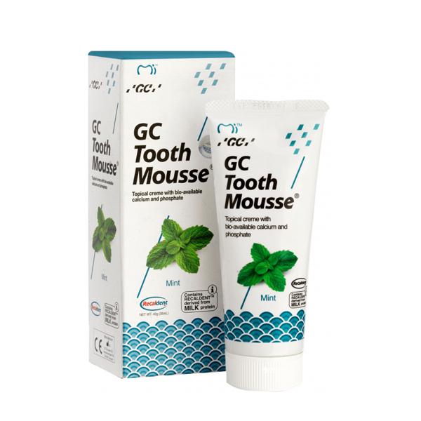 Тус Мусс Mint (TOOTH MOUSSE) гель для реминерализации и укрепления зубов GC, 1 тюбик 35 мл