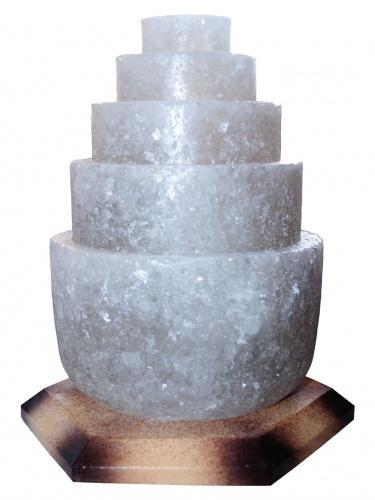 Соляной светильник 'Пагода круглая' (3-4 кг) с цветной лампочкой, 'Артёмсоль'