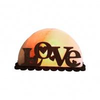 Соляной светильник с деревянными элементами Любовь 1,5кг Saltlamp