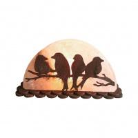 Соляной светильник с деревянными элементами 'Птицы на ветке' 1,5кг Saltlamp