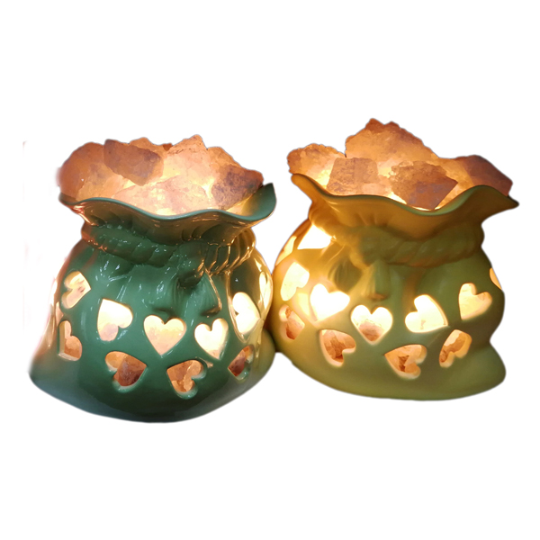 Соляной светильник 2-го уровня Мешочек счастья  керамика (2,4 кг) 'Ваше Здоровье'