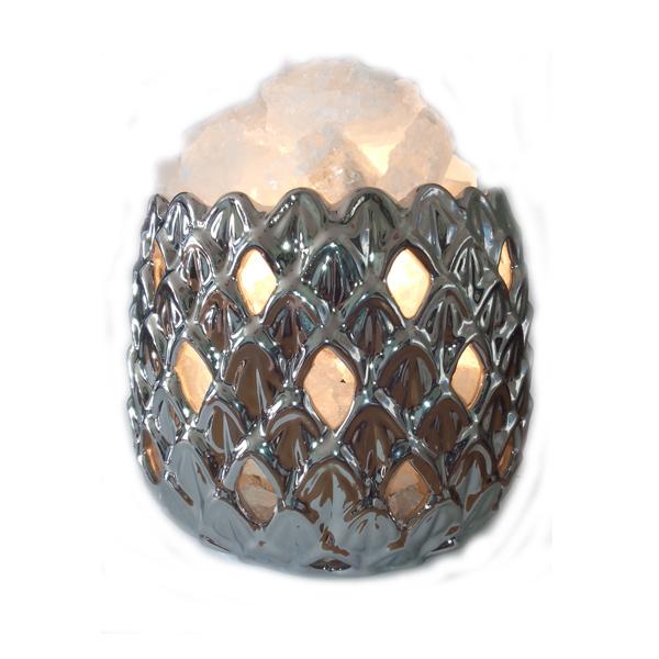 Соляной светильник 2-го уровня Ананас керамика ( 3,4 кг ) 'Ваше Здоровье'